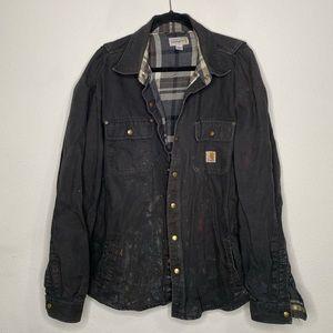 Men's Carhartt Grey Utility Jacket Size XL